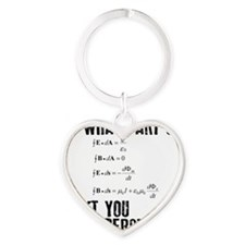 Maxwells Equation Heart Keychain