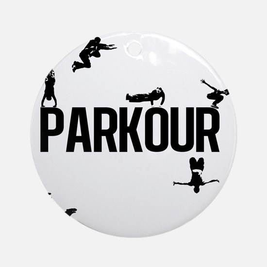 Parkour Round Ornament