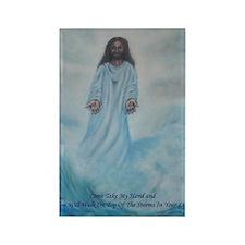 Jesus Walking On The Water Rectangle Magnet