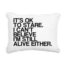 Old, OK To Stare, Funny Rectangular Canvas Pillow