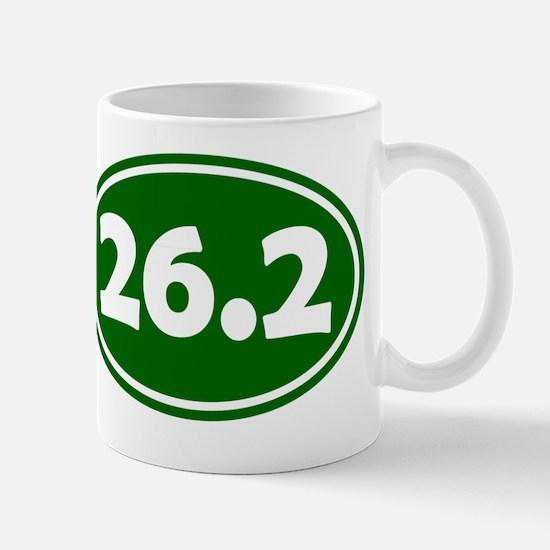 26.2 Oval - Forest Green Mug