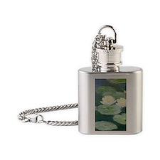 Claude Monet Water Lilies Flask Necklace