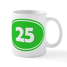 25k Oval - Lime Green Mug
