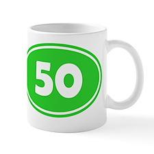 50k Oval - Lime Green Mug