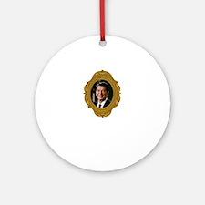 Ronald Reagan White Round Ornament
