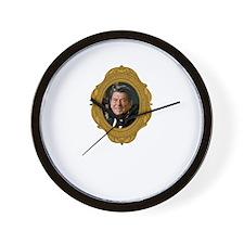 Ronald Reagan White Wall Clock