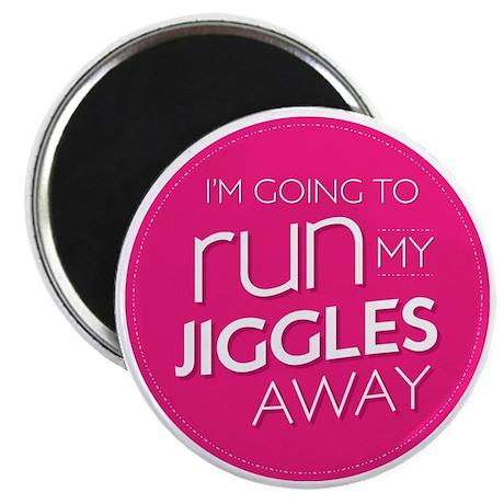 run my jiggles away Magnet