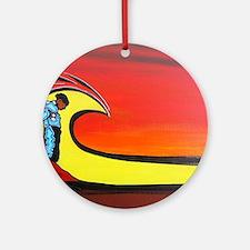 El Matador de Olas Round Ornament