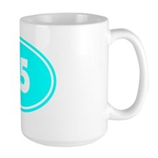 25k Oval - Cyan Mug