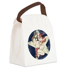 GIVE 'EM HELL PIN-UP Canvas Lunch Bag