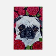 Journal pug valentine Rectangle Magnet