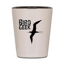 Bird Geek (Frigatebird) Birding T-Shirt Shot Glass