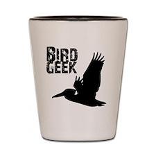 Bird Geek (Pelican) Birding T-Shirt Shot Glass