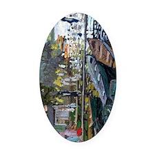 Monet Bathers at La Grenouillere Oval Car Magnet