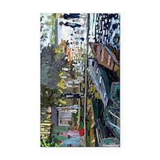 Monet Bathers at La Grenouill Rectangle Car Magnet