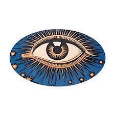 Eyeball Starburst Oval Car Magnet