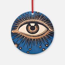 Eyeball Starburst Round Ornament