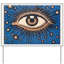 Eyeball Starburst Yard Sign