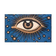 Eyeball Starburst Rectangle Car Magnet