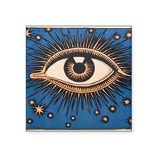 "Eyeball Starburst Square Sticker 3"" x 3"""