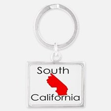 South California Red State Landscape Keychain