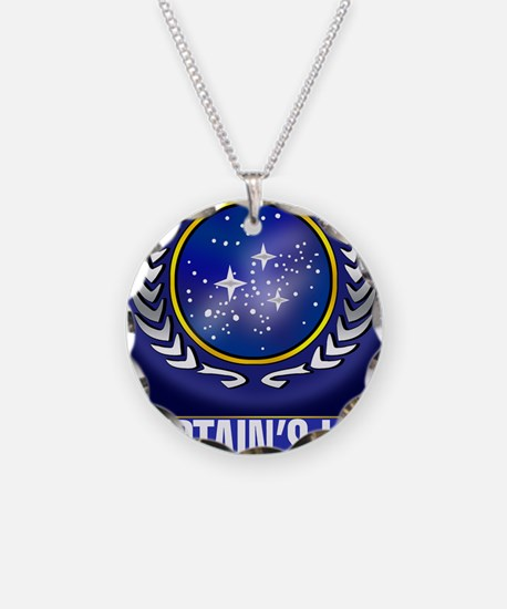 Federation Captains Log (dar Necklace Circle Charm
