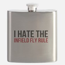 I Hate The Infield Fly Rule Flask