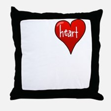 Let Your Heart Guide You Throw Pillow