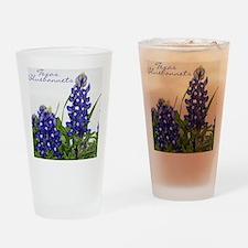 Texas bluebonnet Drinking Glass
