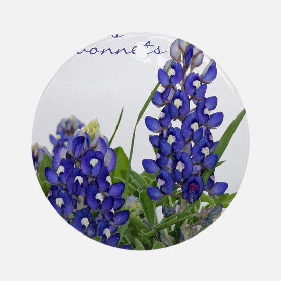 Texas bluebonnet Round Ornament