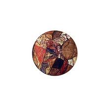 Egon Schiele Agony The Death Struggle Mini Button