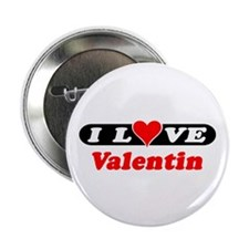 I Love Valentin Button