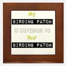 My Birding Patch Birder T-Shirt Framed Tile