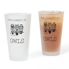 A Parliament Of Owls Bird T-Shirt Drinking Glass
