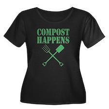 Compost Happens Plus Size T-Shirt