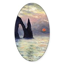 Monet The Manneport Sunset Decal