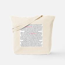 BS-Back Tote Bag