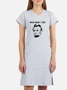 Custom Abraham Lincoln Women's Nightshirt
