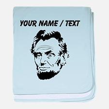 Custom Abraham Lincoln baby blanket