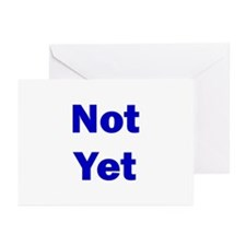 Not Yet Greeting Cards (Pk of 10)