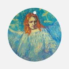 Vincent Van Gogh Angel Round Ornament