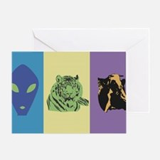 Alien-Tiger-Cow Greeting Card