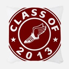 Class Of 2013 Track Woven Throw Pillow