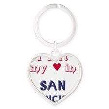 SF_10In12v2_LeftHeart_Design2_RedBl Heart Keychain