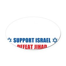 Support Israel, Defeat Jihad Oval Car Magnet