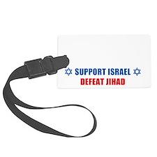 Support Israel, Defeat Jihad Luggage Tag