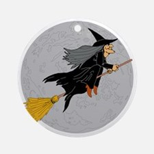 Witch Round Ornament