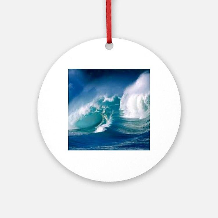 Ocean Round Ornament