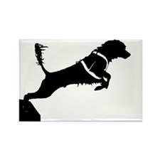 Portuguese Water Dog Jump Rectangle Magnet