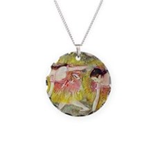Edgar Degas Ballet Dancers Necklace Circle Charm